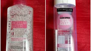 maybelline micellar water vs maybelline total clean express