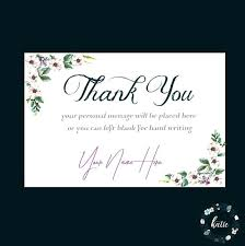 Custom Thank You Card Floral Printable Cards For Business