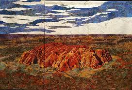 Queensland Quilters at the EKKA - Brisbane & A magnificent quilt of Uluru Adamdwight.com