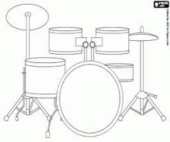 Kleurplaat Drumstel Muziekinstrument Kleurplaten