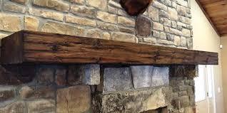 image of reclaimed wood mantel shelf