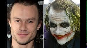 the joker in the dark knight without makeup