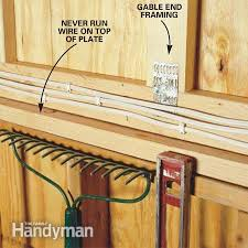 how to wire a garage unfinished the family handyman photo