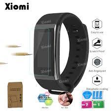 <b>10Pcs</b>/<b>Lot</b>(<b>5Films</b>+<b>5Wipes</b>)For Wristband Xiaomi Huami Midong ...