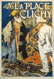 french vintage poster for rugs a la place clichy by eugene samuel grasset 1891 vintage posters by la belle epoque vintage posters in nyc