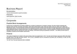Short Business Report Sample Business Report Template