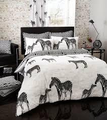 tribal zebra animal print duvet cover set designer bedding
