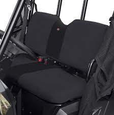 black utv seat cover by classic accessories 2016 18 full size polaris ranger w pro fit cage