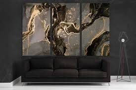 extra large marble canvas art black and
