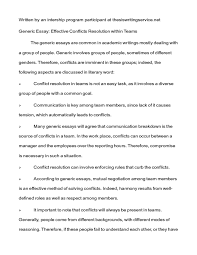 essay on conflict resolution peace and conflict resolution  conflict resolution class notes generic essay effective showing page 1 2