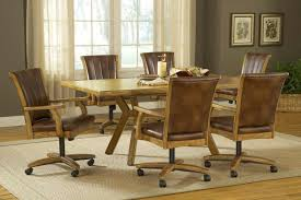 hilale grand bay rectangle dining set with caster chair oak