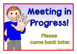 Meeting In Progress Signs Sb5450 Sparklebox