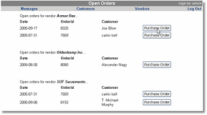 Purchase Order Tracking System Order Entry System Create Purchase Order