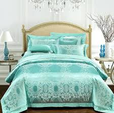 green bed in a bag aqua green bedding set luxury girls jacquard bedspreads satin duvet covers green bed