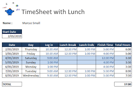 How To Use Excel As A Timesheet Excel Timesheet Example Excel Dashboards Vba And More