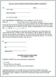 3 Days Pay Or Quit Form Free Eviction Notice Template Sample Form To Vacate Day