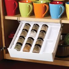 Coffee Cup Rack Under Cabinet Kitchen Creative Spice Racks For Cabinets Bushnellribboncom