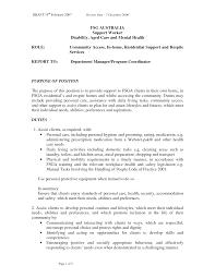 Elderly Care Resume Objective Infoe Link