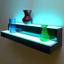 Led Floating Glass Shelves 100 Tier LED Floating Shelf LED Lighted Floating Shelves 1