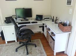 ikea office desks. Spectacular Hemnes Desk Minus One Pedestal Plus Sofa Table Glass Top Ikea Office Desks R