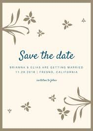 Wedding Save The Date Invitation Templates By Canva
