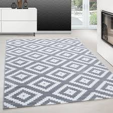Teppich Modern Design Teppich Rechteck Skandinavische Karo Muster Grau Ceres Webshop