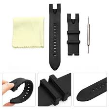 26mm black rubber watchband wrist strap tool clean cloth watch accessories set for invicta pro diver 18028 18029 17811 17812