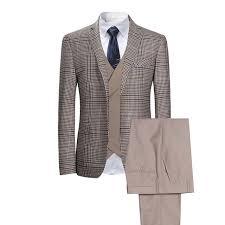 <b>2019 New Men's Plaid</b> Check Business Suits Men Wedding Party ...
