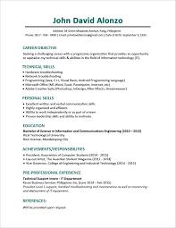 Cv Resume Text Format Cv Sample Job Curriculum Vitae Cv Samples