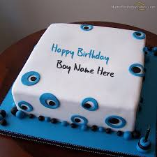 Write Name On Blue Birthday Cake For Boys Happy Birthday Wishes