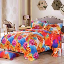 modern teen bedroom with orange blue hot pink bedding sets fl intended for bright comforter remodel 10