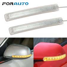 Rsx Cup Holder Light Bulb 2 Pc Led Car Soft Side Mirror Turn Signal Lights Yellow