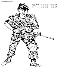 Soldier Coloring Pages Cartoon Infantry Page Free Printable Roman