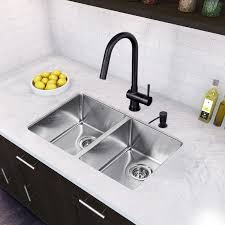 29 inch undermount 50 50 double bowl 16 gauge stainless steel kitchen sink with gramercy