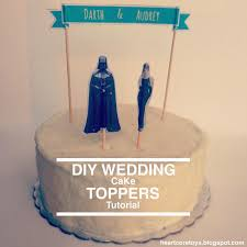 d i y wedding cake toppers