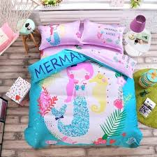 mermaid bedding twin whole mermaid bedding sweet girl pink duvet cover set cotton fabric no fading mermaid bedding twin