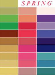 Color Me Beautiful Spring Color Chart Color Me Beautiful Spring Color Palette Color Me