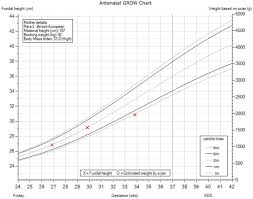 Antenatal Weight Chart Gestational Stage In Week Is On The