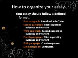 paragraph argumentative essay th grade language arts ppt  2 how to organize your
