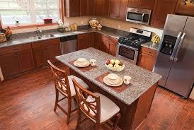kitchen with laminate flooring