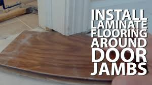installing engineered flooring around door jambs