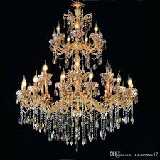 gold and crystal chandeliers large 3 tiers gold crystal chandelier lighting big light fixture arms chandelier