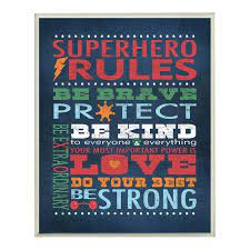stella superhero rules canvas wall