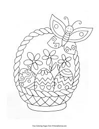 Easter Coloring Pages Ebook Easter Basket Coloring Pages Easter