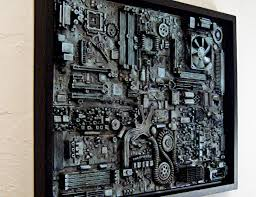 framed wall art for office. framed computer wall art big 18x24 unique industrial steampunk decor great for office