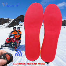 <b>New Electric Heated</b> Insoles with Remote Control Breathable Smart ...