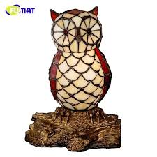 owl table lamp stained glass table lamp quality bedside owl lamp creative gift for kids home owl table lamp