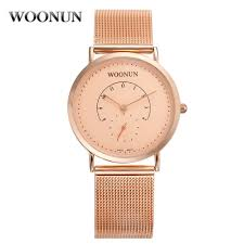 watches for skinny wrists promotion shop for promotional watches woonun original luxury rose gold watches for men male shockproof waterproof clock ultra thin wrist watches for men
