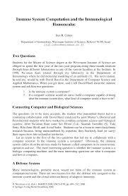 LNCS 4199 - Immune System Computation and the Immunological Homunculus