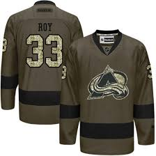 Roy To Reebok Green Salute Authentic - Colorado Patrick Jersey Men's Avalanche Service